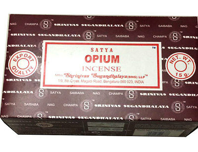 Genuine Satya Sai Baba Nag Champa (OPIUM) Incense Sticks Agarbatti Pack of 12