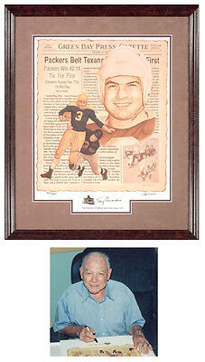 Tony Canadeo Signed Autographed HOF Print Photo COA Packers Unframed Limited Ed.