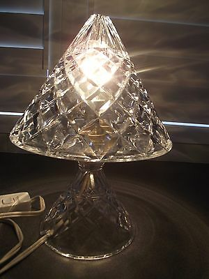 Vintage Cut Crystal Table Lamp ~ Very Good Condition