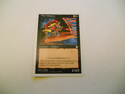 1x MTG Wei Infantry Magic EDH Portal Three Kingdoms P3K ING Inglese x1