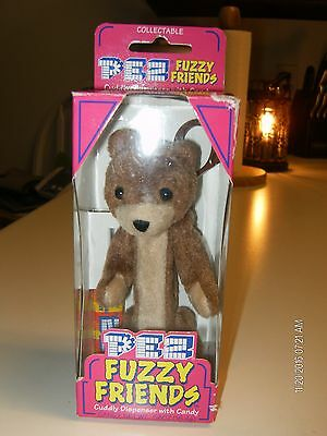 PEZ Fuzzy Friends Cuddly Dispener with Candy Buddy Bear 2000 Collectors New