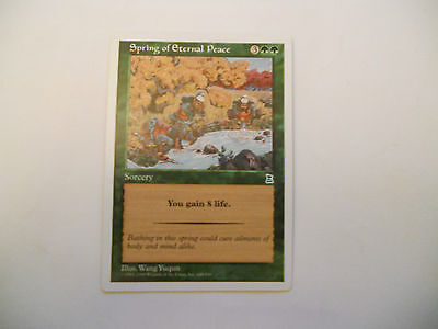 1x MTG Spring of Eternal Peace Magic EDH Portal Three Kingdoms P3K ING Inglese