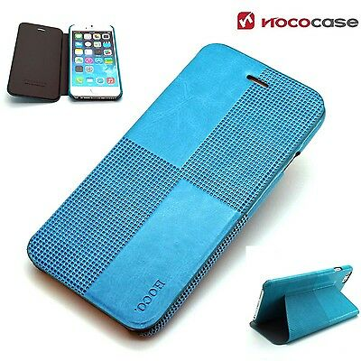 Leather HOCO CRYSTAL FASHION  Wallet Book case for APPLE IPHONE 6 PLUS- BLUE