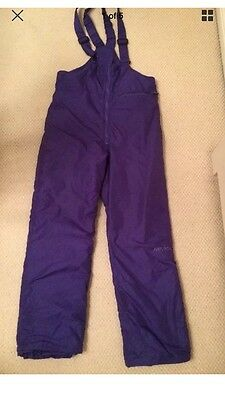 Women's Skiing Trousers Pants Snowboard Salopettes Size 12 Purple Warm Nevica