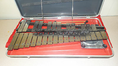 Musser Ludwig Orchestra Bells, Percussion Chimes,Xylophone W/Case, Pad