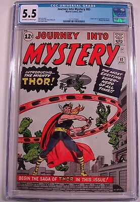 **journey Into Mystery #83 Cgc 5.5**(Aug 1962, Marvel)**1St Appearance Of Thor**