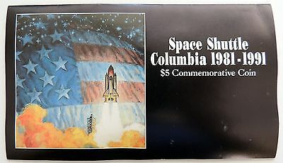 Space Shuttle Columbia 5 Dollar Commemorative Coin  1991 Marshall Islands
