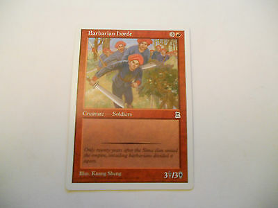 1x MTG Barbarian Horde Magic EDH Portal Three Kingdoms P3K ING Inglese x1