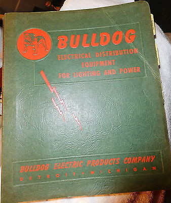 VINTAGE BULLDOG ELECTRIC Distribution CATALOG SWITCHES,Detroit MI,pushmatic,1955