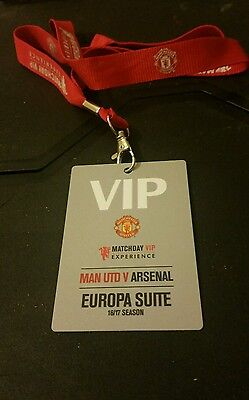 Signed Paul Pogba Man Utd V Arsenal Vip Pass 16X17 Season