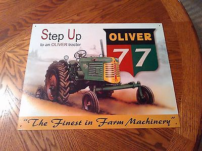Metal Oliver 77 Tractor And Equipment Sign