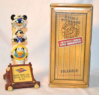 Disney Cruise Line Alaska DCL Totem Pole Collectible Figurine Mickey Mouse Goofy