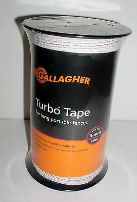 "Gallagher ELECTRIC FENCE G623544 white TURBO TAPE 1/2"" 656' Farm"