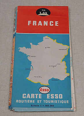 1962 Esso France gas station map