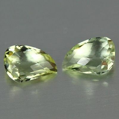 1.475 Ct Rare Unusual Collection Rarest Awesome Best Green Beryl Fancy Pair