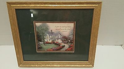 Thomas Kinkade Accent Print with scripture Joshua 24:15 Dated June 22, 2000