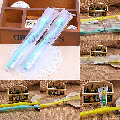 10pcs Toothbrush+ Toothpaste Disposable Individually Wrapped Travel Easy Carry