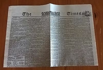 1815 The Times - Battle of Waterloo Reprint