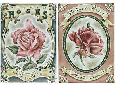 VicToRiaN RoSeS ShaBby LaBeLs WaTerSLiDe DeCALs *VinTaGe*