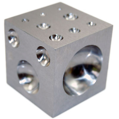 Jewellers Solid Hardened Steel Doming Dapping Block Cube Die for Punch Tools