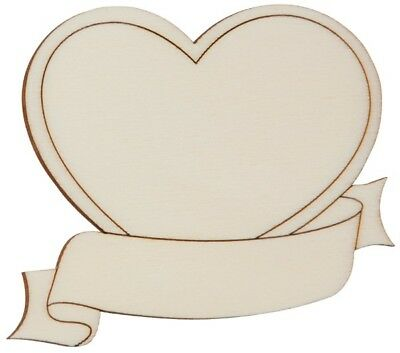 Wood Shield Heart with Banner Laser picture Door sign Window decor Pendant 78x64