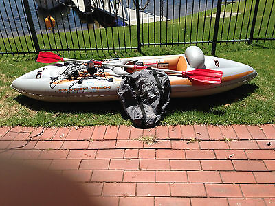 Inverloch 290 Inflatable Kayak 1 person River Lake Boat Oars