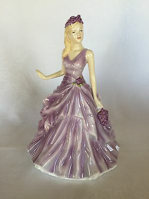 NEW Royal Doulton Flower of the Month Figurine - FEBRUARY, Violet