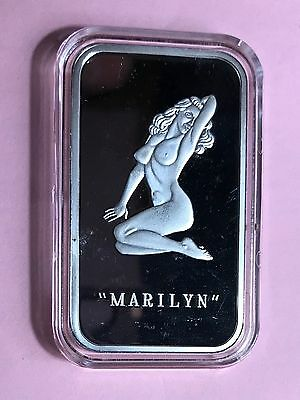 Marilyn Monroe One Ounce Fine Silver Bar - 1 Oz .999 Silver Bar Encapsulated