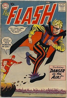 """THE FLASH #113 1960 THE TRICKSTER ORIGIN & 1ST APPEARANCE """"Danger In The Air"""""""