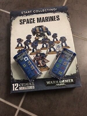 Warhammer40k Space Marines with Dice