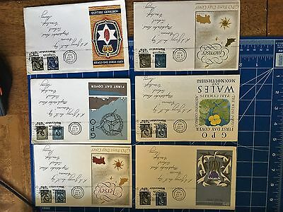 First Day covers 09/1968 N Ireland, Isle of Mann, Jersey, Guernsey, Wales, Scot