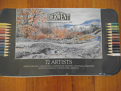 Derwent Artist Pencils 72 Pack - Used, but not a huge amount