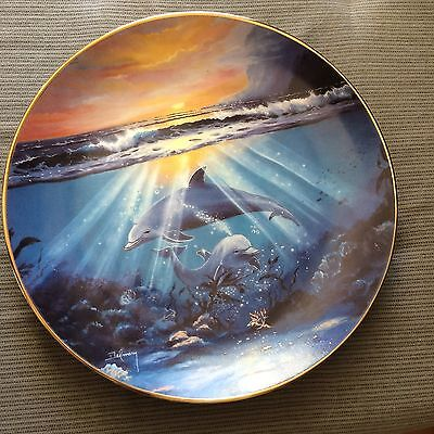 Franklin Mint Collectable Plate 21cm Dance Of The Dolphin