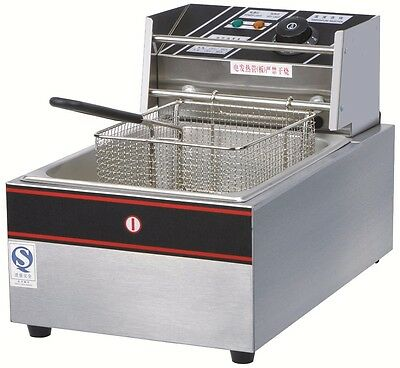 2.5KW Stainless Steel Commercial Single Tank Electric Deep Fat Fryer 10L