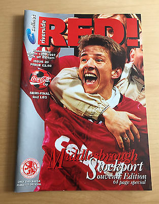 1996/1997 LEAGUE CUP SEMI FINAL : Middlesbrough v Stockport 2nd Leg 12/3/97