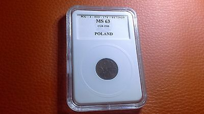 Set of 2 graded Polish coins