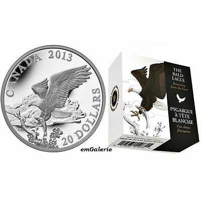 2013 Kanada Bald Eagle 1 oz PP 20 $ Weisskopfseeadler - Returning from the Hunt
