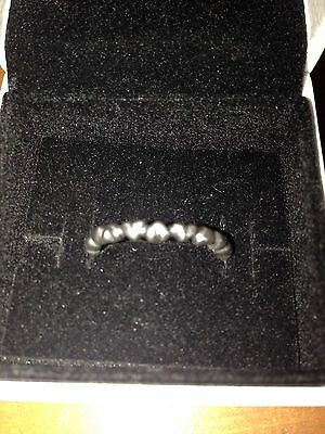 PANDORA - Sterling Silver 'Heart Stacking Ring' - Size: 56