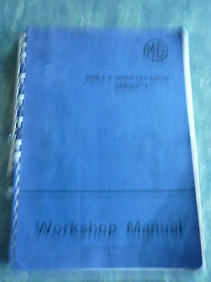 MG SERIES Y One and a Quarter Litre  WORKSHOP MANUAL