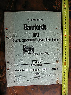 Bamford Mower Spare Parts List  23 pages