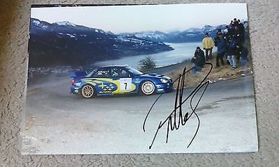 Petter Solberg signed Subaru photo from the 2000 Monte Carlo Rally