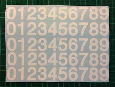 """1"""", 2"""" STICKY SELF ADHESIVE VINYL NUMBERS 0-9 DECALS STICKERS Black or White"""