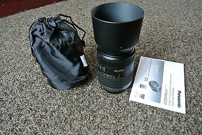 Panasonic Lumix G 45-200mm f/4.0-5.6 OIS Lens for Micro 4/3 made in japan