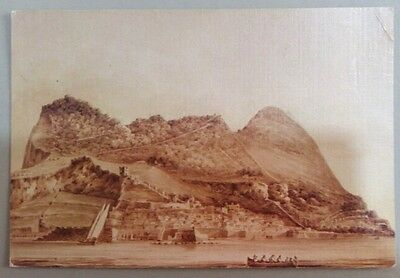 Gibraltar postcard: Gibraltar from the Bay.c. 1820,unposted.