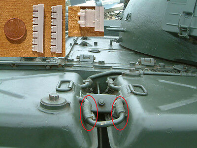 Connections for the fuel hoses in T-55 and T-62 tanks, scale 1/35