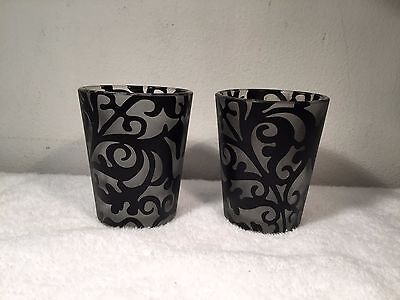 Pair Of PartyLite Glass Votive Candle Holders