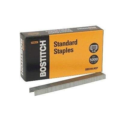 "New Bostitch Office Premium Standard Staples Full-Strip 0.25"" Leg 5,000 per Box"