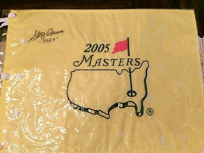 2005 Masters flag signed Gay Brewer Augusta National 1967 Champion