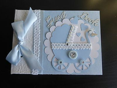Beautiful Pram design Baby Shower guest book