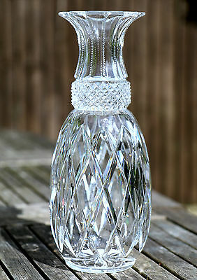 A Large Antique Cut Glass Vase Crystal late 19th Century